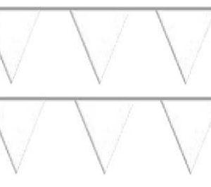 Bandeira Plástico Triângulo Branco