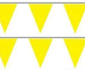 Bandeira Plástico Triângulo Amarelo