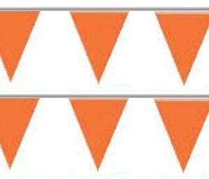 Bandeira Plástico Triângulo Laranja