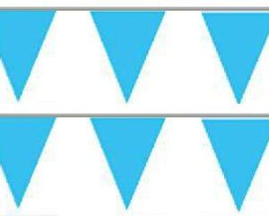 Bandeira Plástico Triângulo Azul Claro