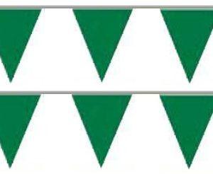 Bandeira Plástico Triângulo Verde