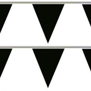 Bandeira Plástico Triângulo Preta