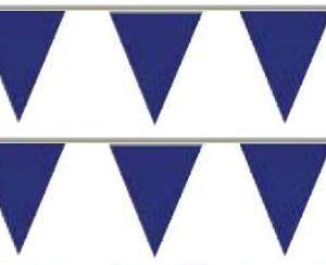 Bandeira Plástico Triângulo Azul