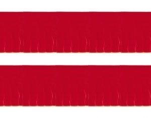 Bandeira Plástico franja Vermelho