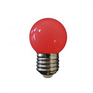 Lâmpada Led 1W E27 vermelho