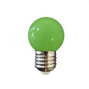 Lâmpada Led 1W E27 verde