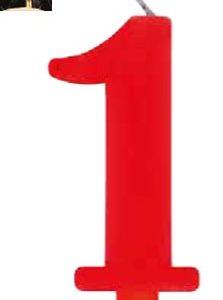 Vela Vermelha mágica número 1