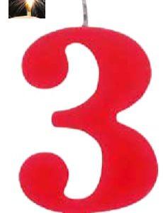 Vela Vermelha mágica número 3