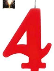 Vela Vermelha mágica número 4