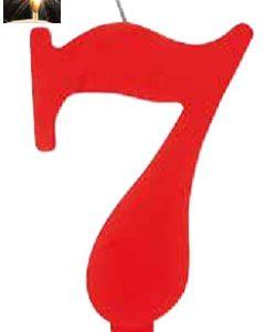 Vela Vermelha mágica número 7