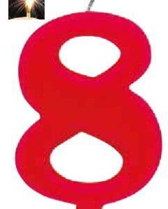 Vela Vermelha mágica número 8