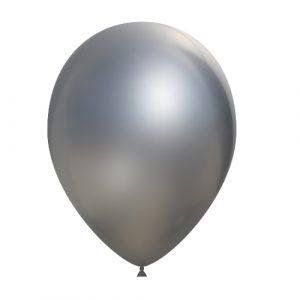 Balão Latex PRATA CROMO 14