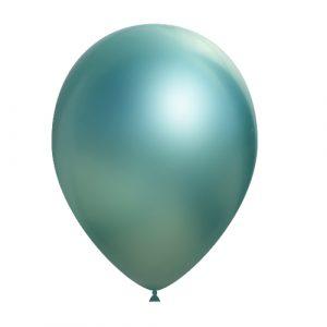 Balão Latex VERDE CROMO 14