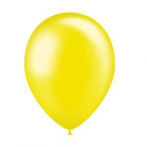 Balão Latex AMARELO LIMÃO METALIZADO 11