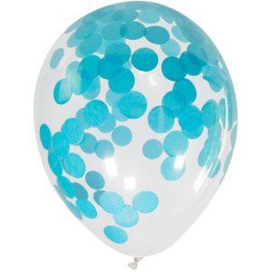 Balão Latex confetti REDONDO AZUL