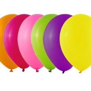 Balão Latex cor SORTIDO Fluorescente 9