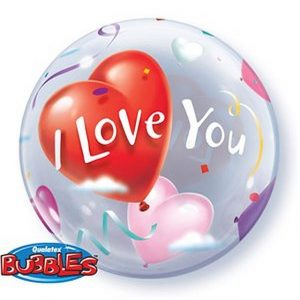 Balão Bubble CORAÇÃO I LOVE YOU 22