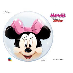 Balão duplo Bubble MINNIE 22