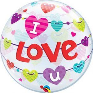 Balão Bubble I LOVE YOU 22