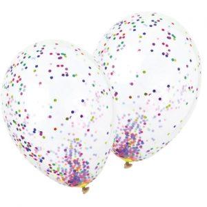 Balão Latex confetti CONFETI MULTICOLOR
