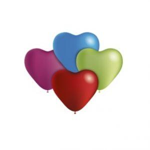 Balão Latex CORAÇÕES SORTIDA 5