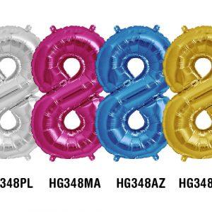 Balões Foil Números