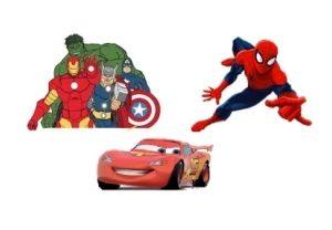 Cars, Homem Aranha, Vingadores