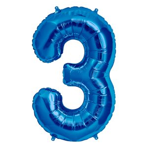 Balão Foil AZUL número 3