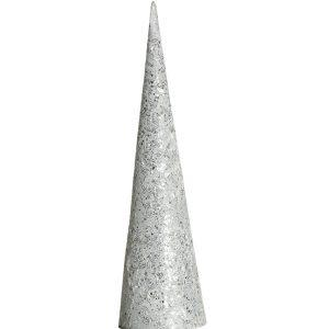 Cone branco metalizado com luz