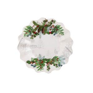 Pratos Redondo 21 cm Winter Holidays