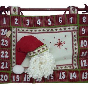 Calendário de natal em tecido