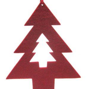 Árvore de natal vermelha EVA