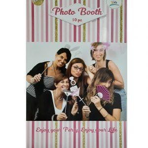 Cartaz com acessórios para fotos
