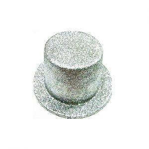 Cartola Adulto Prata glitter