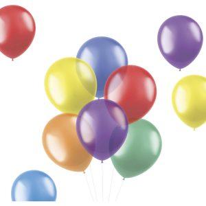 Balão Latex BRILHANTE TRANSPARENTE cor SORTIDO 13