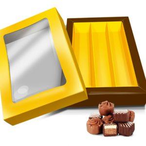 Caixa Retangular chocolate 21.5 cm