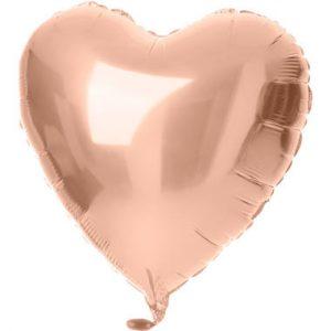 Balão Coração Foil ROSE GOLD 18