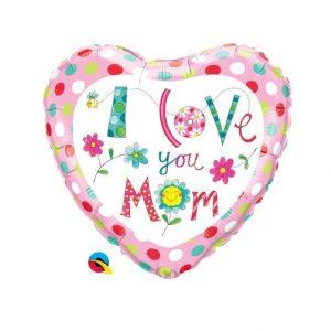 Balão Coração Love Mum 18