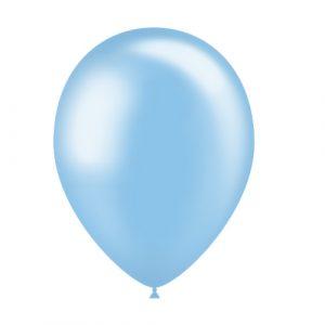 Balão Latex cor AZUL CELESTE METALIZADO 11