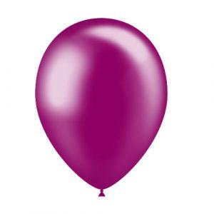 Balão Latex cor ROSA FUCSIA METALIZADO 11