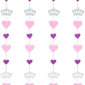 Grinalda coroa e corações