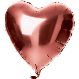 Balão Coração Foil BRONZE 18