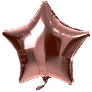 Balão Estrela Foil BRONZE 18