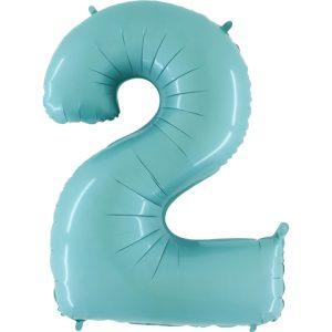 Balão Foil AZUL MATTE Número 2