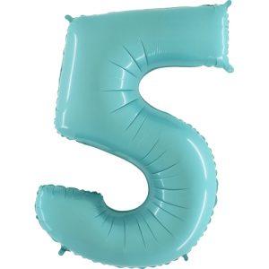 Balão Foil AZUL MATTE Número 5