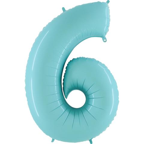 Balão Foil AZUL MATTE Número 6