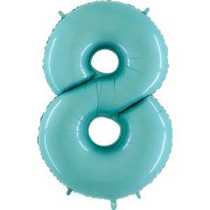 Balão Foil AZUL MATTE Número 8