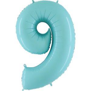 Balão Foil AZUL MATTE Número 9