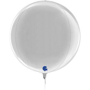 Balão Foil Esférico 4D Prata