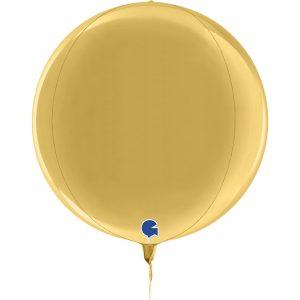 Balão Foil Esférico 4D Dourado 5